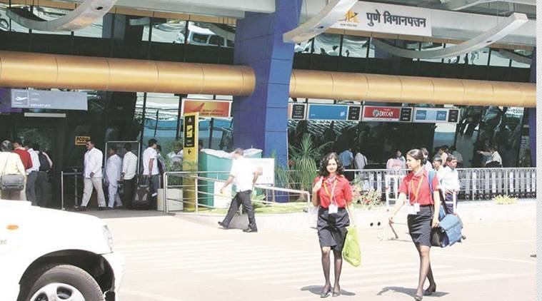 Pune airport, Pune airport director, new parking bays, Indian Express, Indian Express News