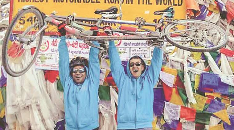 Manali, Khardung La, Visually-impaired, cycle expedition, indian express news, pune news