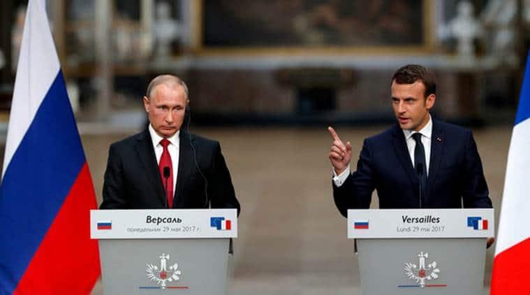 Putin, Russia, Syria, Macron