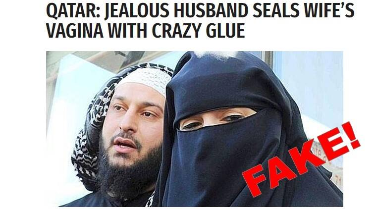 qatar guy seals wife's genitals, qatar guy seals wife's genitals fake news, qatar guy glues wife's genitals for facebook like fake news, qatar husband seals wife's genitals for liking man's facebook photo, qatar man seals wife's genitals fake news, indian express, indian express news, trending news, qatar bizarre news, qatar news