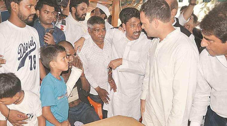 rahul gandhi, saharanpur, rahul gandhi saharanpur visit, saharanpur violence, saharanpur dalits, india news, indian express news