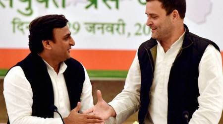 samajwadi Party, SP-Congress, SP-Congress alliance, Akhilesh yadav, Rahul gandhi, SP, SP uttar Pradesh, Up elections, Up local bodies election, raj babbar, BJP, narendra Modi, Yogi adityanath, PM Modi, UP CM, UP municipal corporations, UP MC poll, UP news, india news, indian express news