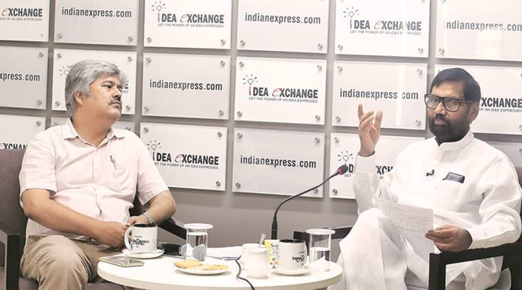 Ram Vilas Paswan, Food minister Ram Vilas Paswan, Pam Vilas Paswan interview, Presidential elections, Opposition candidate presidential elections, Food subsidies, Food minister subsidies, Demonetisation, Paswan Aadhaar, India news, Indian Express
