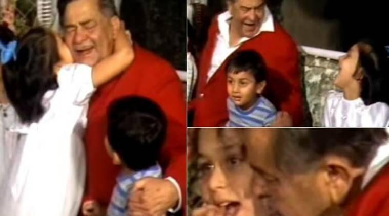 Raj Kapoor Kareena Karisma Ranbir Childhood Video