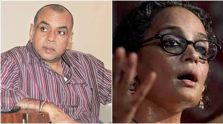 jammu and kashmir, J&K, Kashmir human shield, Human shield, man tied to jeep. officer awarded, Paresh rawal, BJP MP Paresh Rawal, Arundhati roy, writer arundhati roy, india news, indian express news