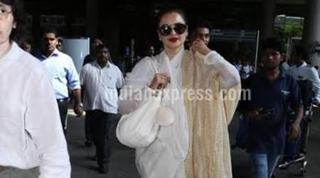 Rekha prefers to travel in style and elan. At 62, she is more graceful than anyone else