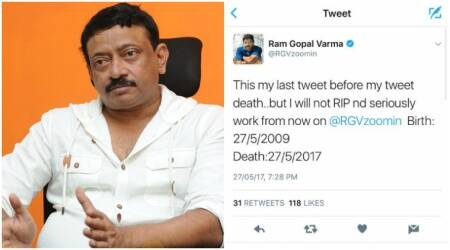Ram Gopal Varma quits Twitter, says 'no thanks' for following him. Read his last tweet