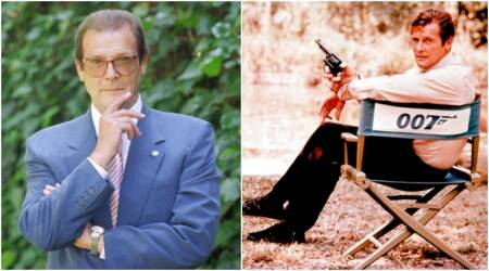 roger moore, roger moore pics, sir roger moore, roger moore images, roger moore death, roger moore throwback, roger moore films, roger moore stills, roger moore hollywood, roger moore actor, roger moore news, hollywood news, entertainment updates, indian express