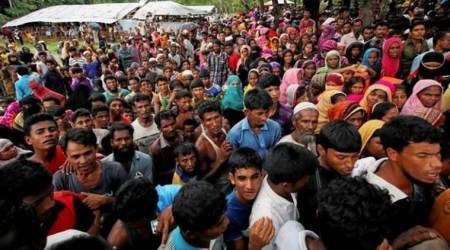 Nowhere to go for Rohingya refugees in Bangladesh after cyclone wrecks camps