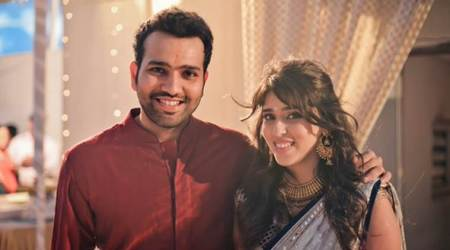 Rohit Sharma, Ritika Sajdeh, Mumbai Indians, IPL 2017, IPL 2017 title, Indian Premier League, cricket, sports news, Indian Express