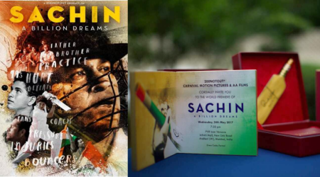Sachin: A Billion Dreams premieres tonight and its invites have a distinct Sachin Tendulkar touch