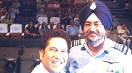 Sachin Tendulkar, Sachin, Sachin Tendulkar biopic, Indian Armed Forces, Armed Forces Officers, Sachin Tendulkar wife, Anjali Tendulkar, Narendra Modi, Sachin : A Billion dreams, sports news, cricket news, indian express