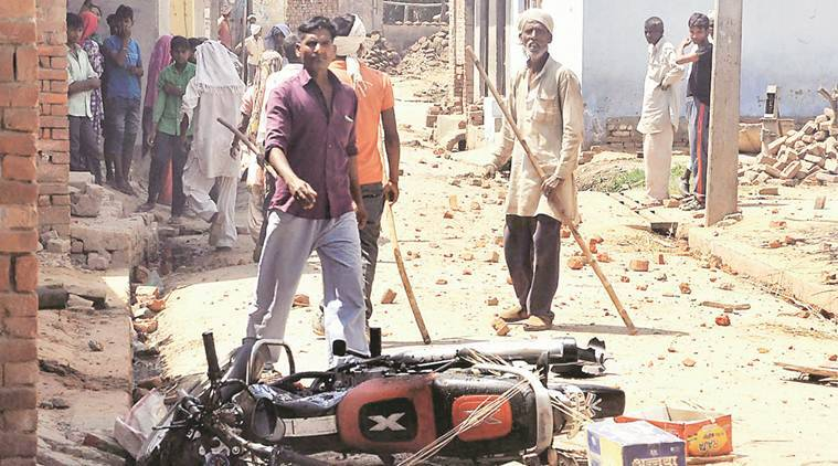 saharanpur, saharanpur violence, saharanpur clashes, thakurs-dalits, rajput-maharana pratap, ambedkar statue, thakur, dalits, one killed in saharanpur clashes, india news, indian express