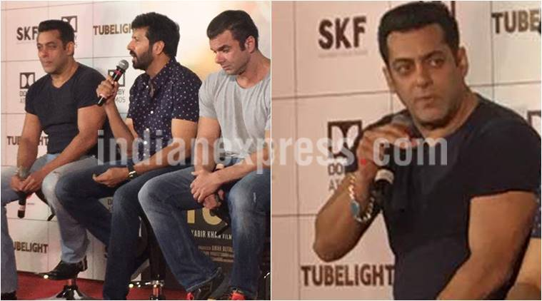Salman Khan, tubelight trailer launch, Kabir Khan, Sohail Khan, tubelight, salman khan image