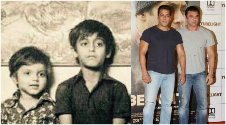 Tubelight: Salman Khan made for one handsome child. His throwback photo  with Sohail Khan is nostalgia itself | Entertainment News,The Indian Express