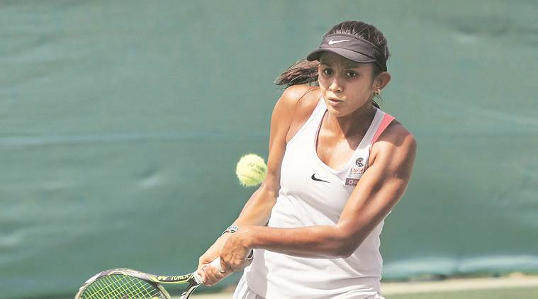 salsa aher, under 16 tennis 2017, tanisha kashyap, mslta, maha tennis association, mslta yonex sunrise, sports news, tennis news, indian express