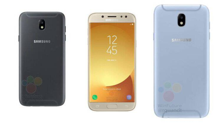 samsung galaxy j5 2017 and galaxy j7 2017 images specifications leaked online the indian. Black Bedroom Furniture Sets. Home Design Ideas