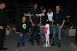 Sanjay Dutt Takes Wife Maanyata And Kids Out For Dinner