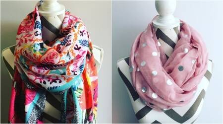 fashion, lifestyle, scarves, scarves for summer, summer stylish scarves, best ways to use scarves, scarves in fashion, choker scarf, bandana scarf, indian express, new indian express