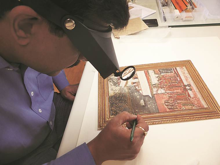 indian touch, dresden museum, indian miniature, indian sculptor, paintings, art conservation centre, europe, german city, exhibition, art and culture news, indian express news