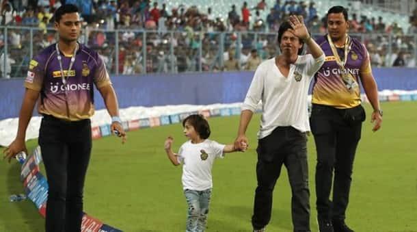 Shah Rukh Khan, Shah Rukh Khan abram, abram, srk abram pics, abram recent pics, abram ipl pics, abram srk pics, srk abram photos