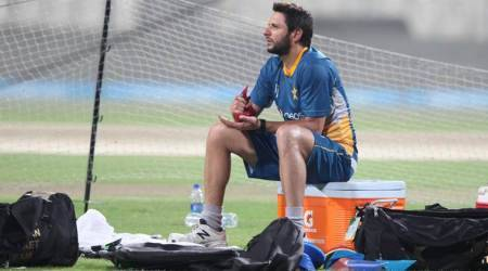 Shahid Afridi, Shahid Afridi Pakistan, Pakistan Shahid Afridi, Shahid Afridi batting, Shahid Afridi Gautam Gambhir, Gambhir Afridi, sports news, sports, cricket news, Cricket, Indian Express