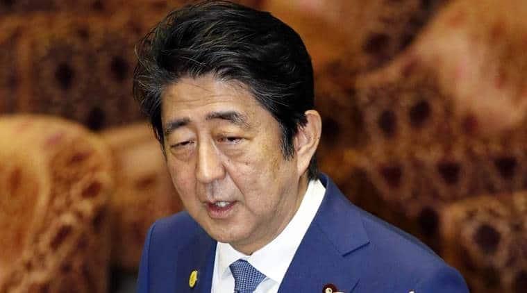 Japan PM Shinzo Abe, Japan Prime Minister Shinzo Abe, Shinzo Abe, Shinzo Abe Pacifist Constitution, Japan PM Shinzo Abe Pacifist Constitution, World News, Latest World News, Indian Express, Indian Express nEWS