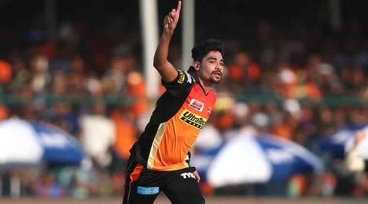 SRH vs GL, Sunrisers Hyderabad vs Gujarat Lions, Mohammad Siraj, IPL 2017, Indian premier League 2017, Hyderabad vs Gujarat, sports news, cricket news, Indian Express