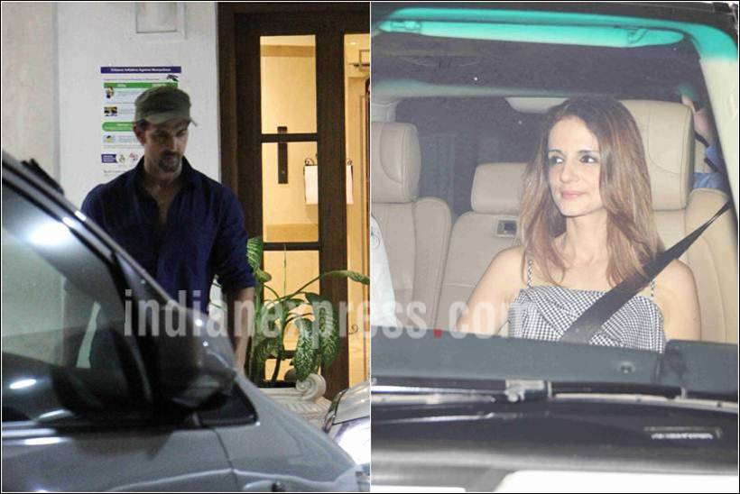 hrithik roshan, sussane khan, hrithik sussane, sanjay dutt party pictures