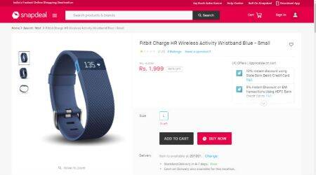 Snapdeal, Fitbit, Snapdeal scam, Snapdeal Fitbit scam, buy Fitbit Snapdeal, Snapdeal Fitbit Charge HR, Fitbit Charge 2 price, Fitbit Blaze, buy Fitbit Alta online, Amazon, gadgets, technology, technology news