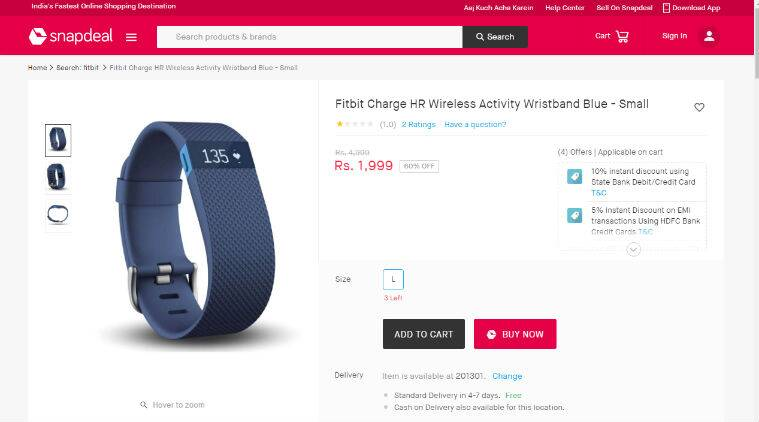 2ebfce84e4f BEWARE  Snapdeal selling Fitbit wearables for a heavy discount