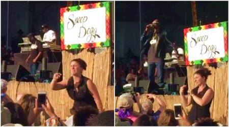 WATCH: At Snoop Dogg's concert, music lovers saw this woman more than they heard the rapper; can you guesswhy?
