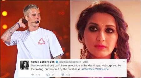 Sonali Bendre calls Justin Bieber India concert 'waste of time', gets mercilessly trolled by Beliebers