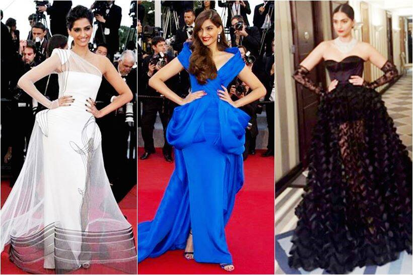 6f8d6be8b97 Sonam Kapoor s fashion journey at Cannes  From 2011 to 2016 ...