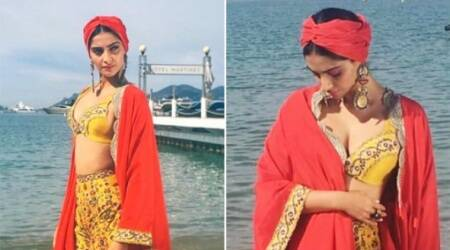 Cannes 2017: Sonam Kapoor goes boho chic in Anamika Khanna on Day 6, see pics
