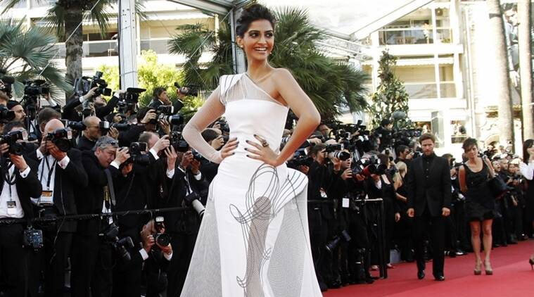Sonam Kapoor, sonam kapoor's appearance in cannes, sonam kapoor kapoor's dresses in cannes, indian express, indian express news