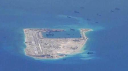 China building on new reef in S.China Sea, think tank says