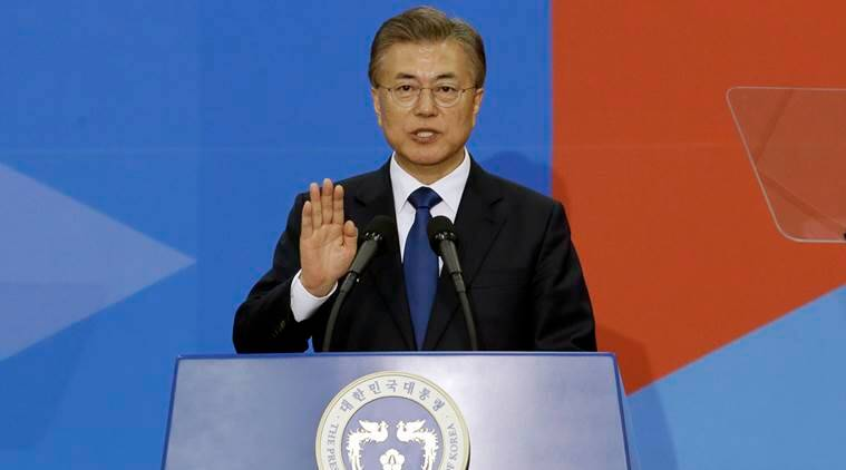 south korea ministers, THAAD launchers, US Missile defense system probe, south korea president, moon jae-in, south korea cabinet, south korea news, latest news, indian express