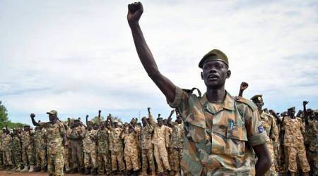 US man killed in South Sudan; army says 'caught infighting'