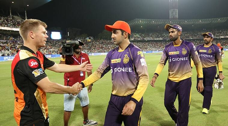 ipl 2017, ipl 10, ipl eliminator, ipl playoffs, sunrisers hyderabad, kolkata knight riders, srh, kkr, srh vs kkr, sunrisers hyderabad vs kolkata knight riders, ipl knockouts, david warner, gautam gambhir, srh kkr chinnaswamy, cricket news, cricket, ipl news, sports news, indian express