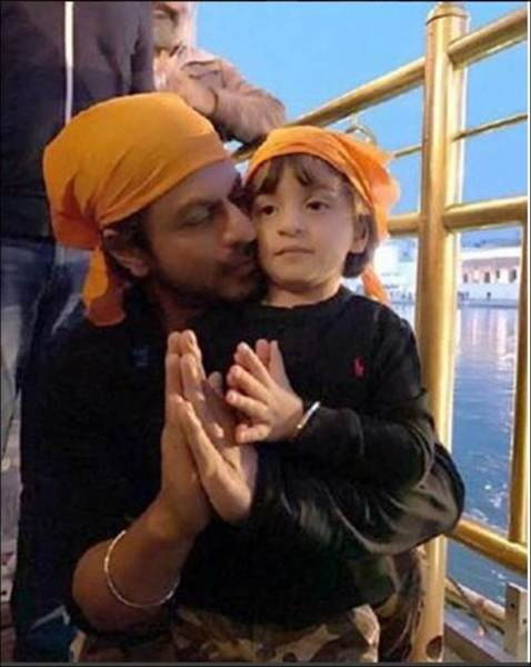 shah rukh khan kids, shah rukh khan children, abRam birthday, shah rukh abram golden temple, abRam image