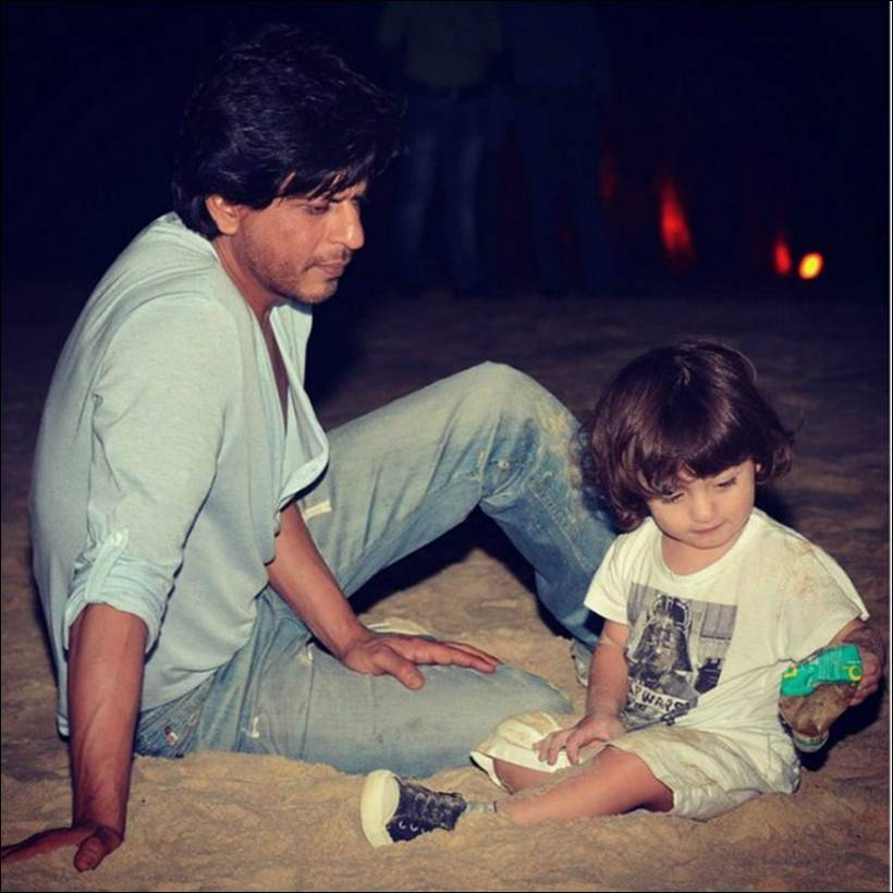 Image result for shahrukh khan son abram