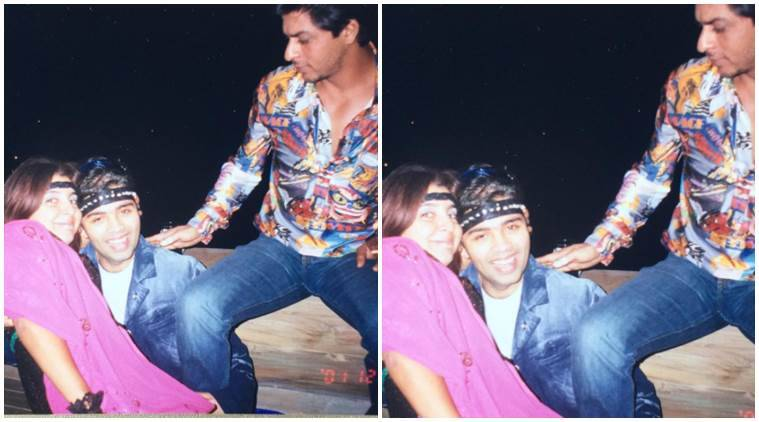 Old picture of Shah Rukh Khan, Karan Johar and Farah Khan