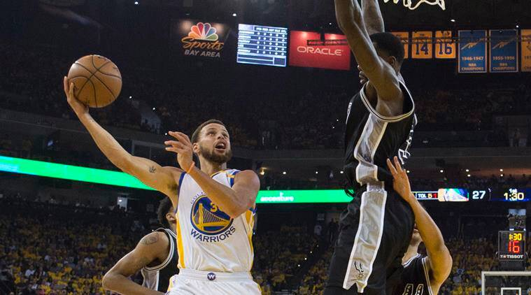 steph curry, curry, nba, golden state warriors, san antonio spurs, nba, basketball news, sports news, indian express