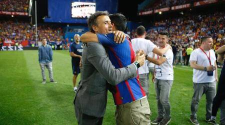 Luis Suarez pays tribute to outgoing Barcelona manager Luis Enrique