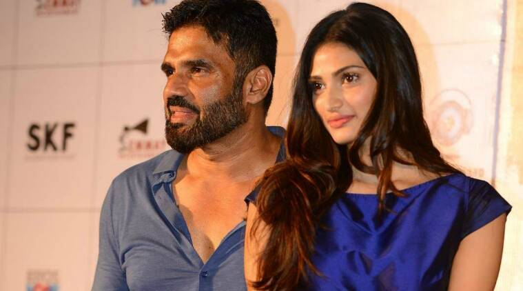 suniel shetty, athiya shetty, suniel shetty athiya shetty, suniel shetty actor, suniel shetty news, suniel shetty pics, athiya shetty pics, athiya shetty father suniel shetty, suniel shetty daughter athiya shetty