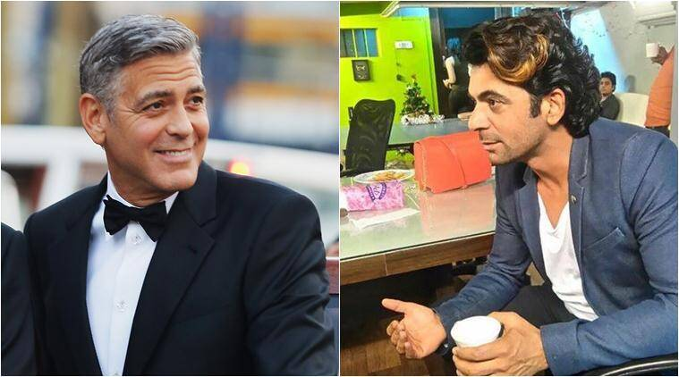 sunil grover, george clooney, sunil grover lookalike, sunil grover grorge clooney, justin bieber lookalike, justin beiber sachin son, celebrity lookalike, entertainment news, indian express,