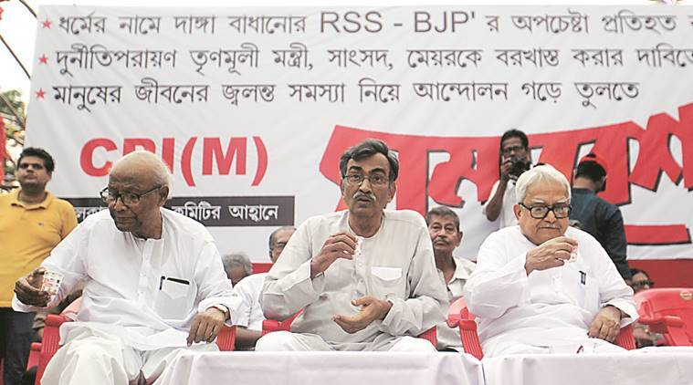 Surjya Kanta Mishra, CPM, CPM secretary, Saradha, Rose Valley, other chit fund scams, TV serial, kolkata news, india news, indian express news