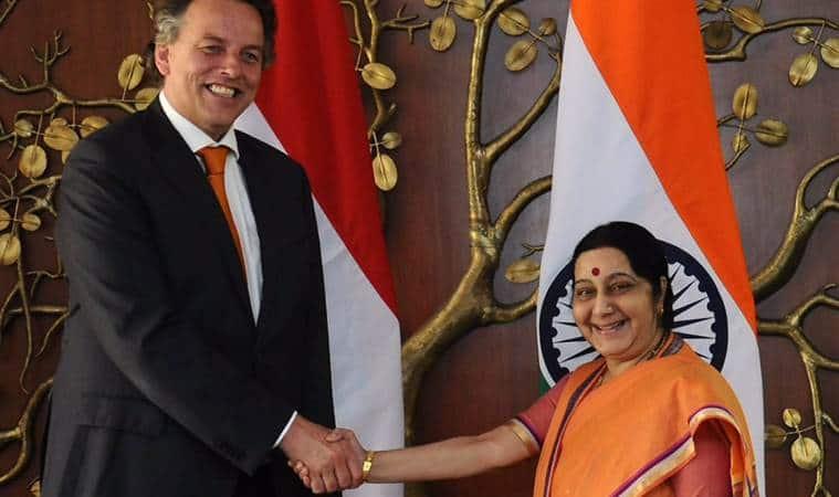 Sushma Swaraj meets Dutch ForeignMinister