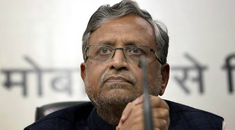 Sushil Modi, Environment ministry, mall construction work, environment ministry halts mall construction, Lalu Prasad, Tejashwi Yadav, India news, Indian Express